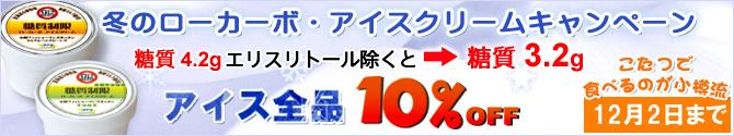 糖質制限スイーツ『ローカーボアイスクリーム』10%OFFキャンペーン