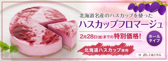 『ハスカップフロマージュ(ホールタイプ)』が2月28日(金)まで特別価格
